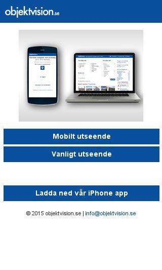 Mobile preview of objektvision.se