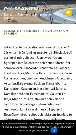 Mobile preview of omspanien.se