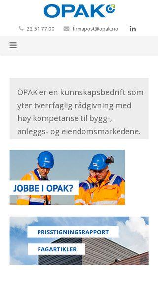 Mobile preview of opak.no