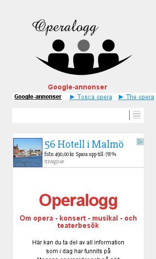 Mobile preview of operalogg.com