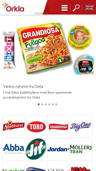 Mobile preview of orkla.no