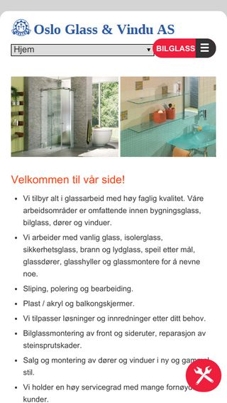 Mobile preview of osloglass.no