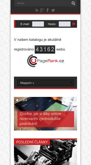 Mobile preview of pagerank.cz