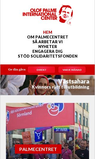 Mobile preview of palmecenter.se
