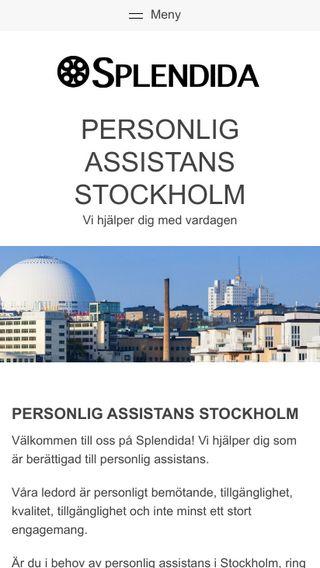Mobile preview of personligassistansstockholm.nu