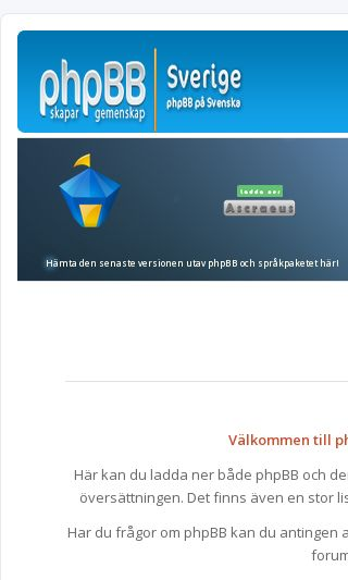 Mobile preview of phpbb.se