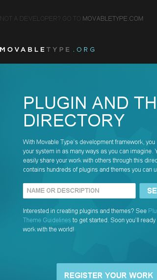 Mobile preview of plugins.movabletype.org