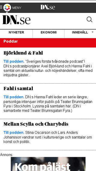 Mobile preview of podcast.dn.se