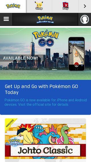 Mobile preview of pokemon.com