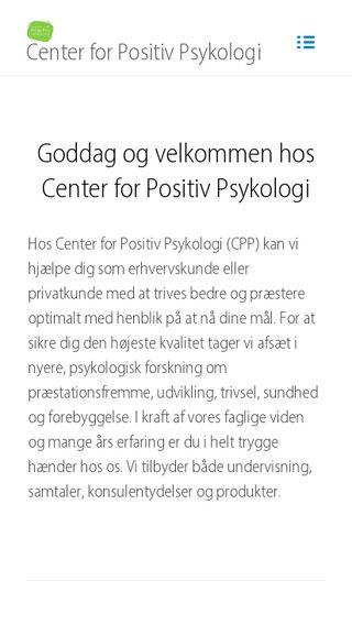 Mobile preview of positivpsykologi.dk