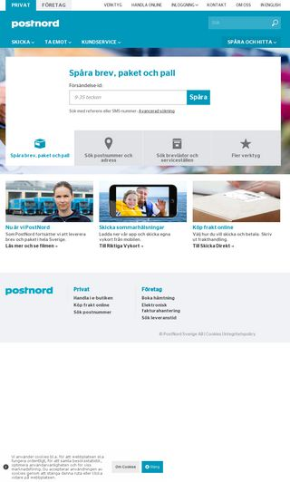 Mobile preview of posten.se