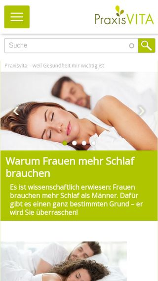Mobile preview of praxisvita.de