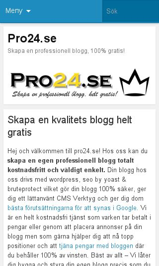 Mobile preview of pro24.se