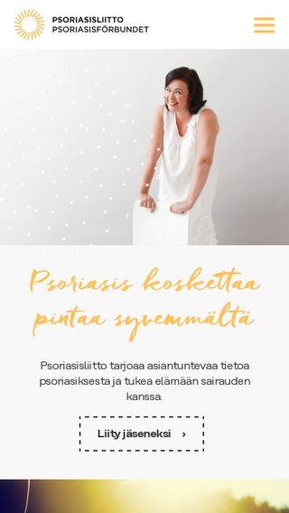 Mobile preview of psori.fi