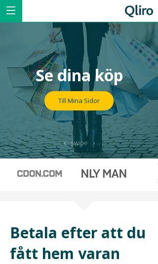 Mobile preview of qliro.com