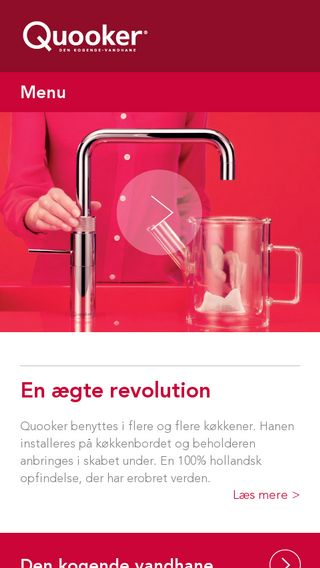 Mobile preview of quooker.dk