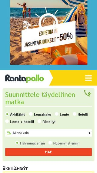 Mobile preview of rantapallo.fi