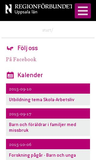 Mobile preview of regionuppsala.se