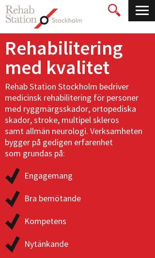 Mobile preview of rehabstation.se