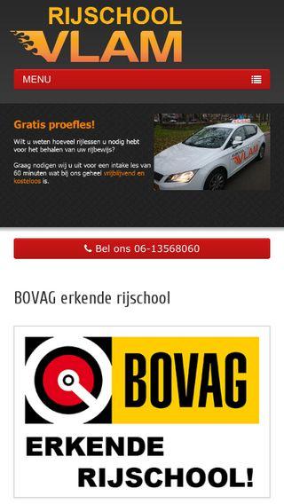 Mobile preview of rijschoolvlam.nl