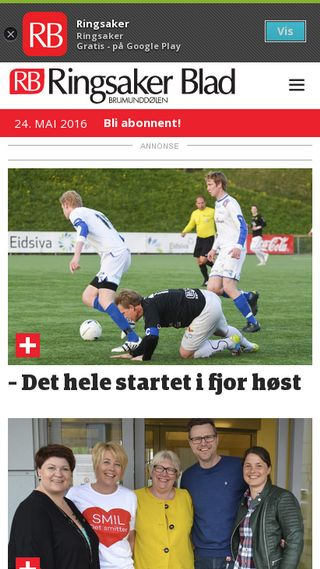 Mobile preview of ringsaker-blad.no