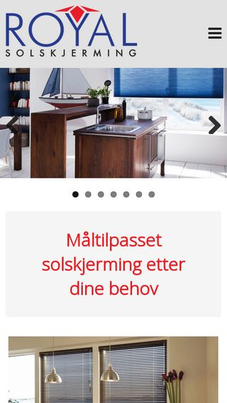 Mobile preview of royalsolskjerming.no