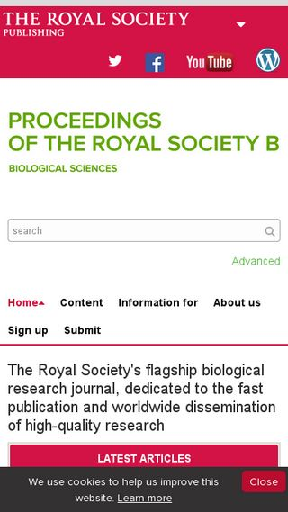 Mobile preview of rspb.royalsocietypublishing.org
