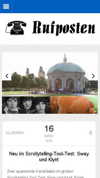 Mobile preview of rufposten.de