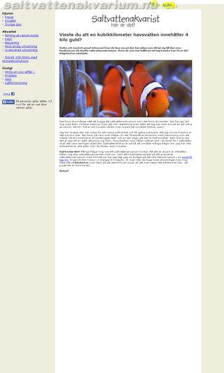 Mobile preview of saltvattenakvarium.nu