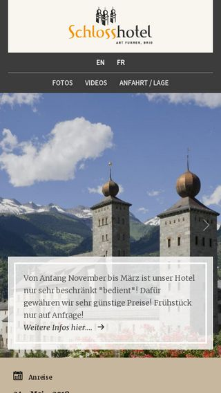 Mobile preview of schlosshotel.ch