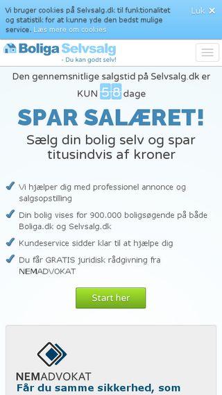 Mobile preview of selvsalg.dk
