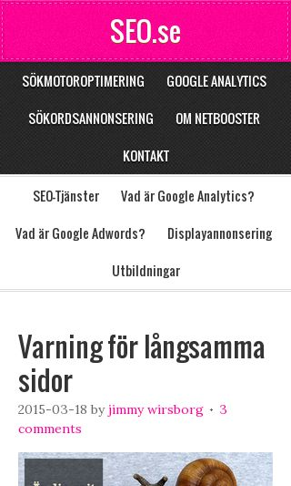 Mobile preview of seo.se