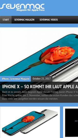 Mobile preview of sevenmac.de