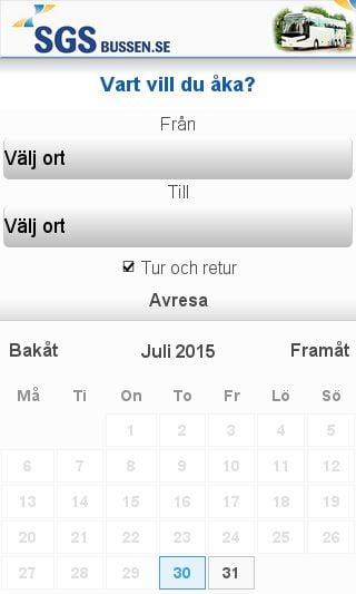 Mobile preview of sgsbussen.se
