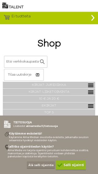Mobile preview of shop.almatalent.fi