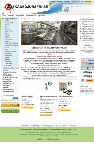 Mobile preview of skadedjursfri.se