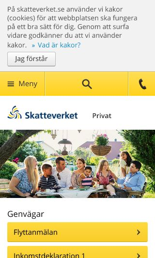 Mobile preview of skatteverket.se