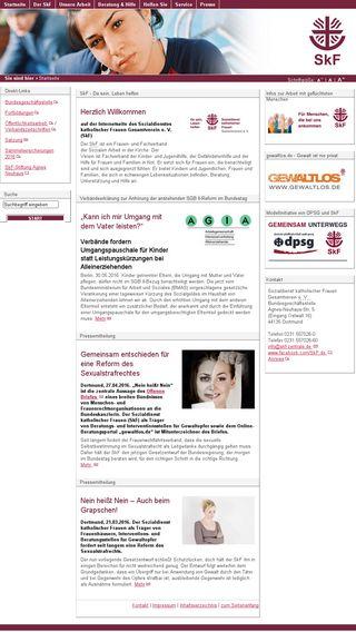 Mobile preview of skf-zentrale.de
