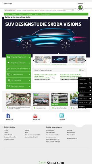 Mobile preview of skoda-auto.de