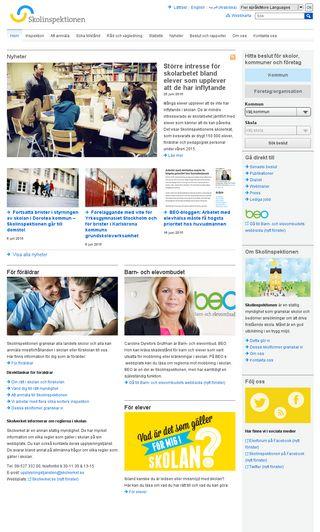Mobile preview of skolinspektionen.se