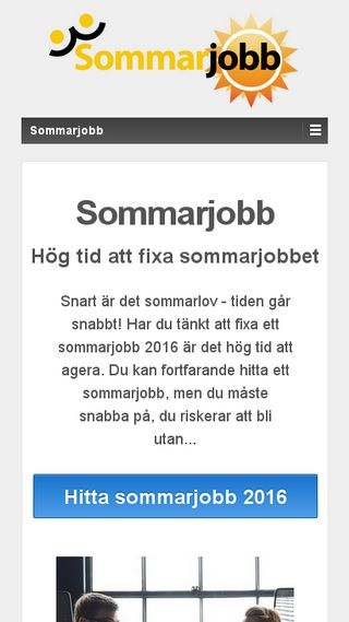 Mobile preview of sommarjobb.me