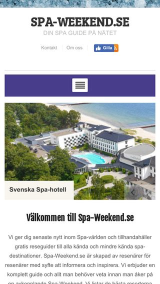 Mobile preview of spa-weekend.se