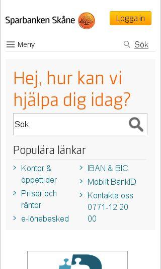 Mobile preview of sparbankenskane.se
