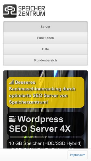 Mobile preview of speicherzentrum.de