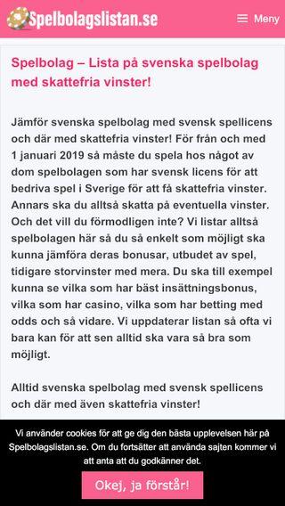 Mobile preview of spelbolagslistan.se