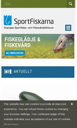 Mobile preview of sportfiskarna.se