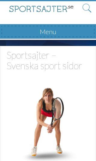 Mobile preview of sportsajter.se