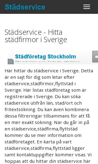 Mobile preview of stad-service.se