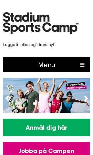 Mobile preview of stadiumsportscamp.se
