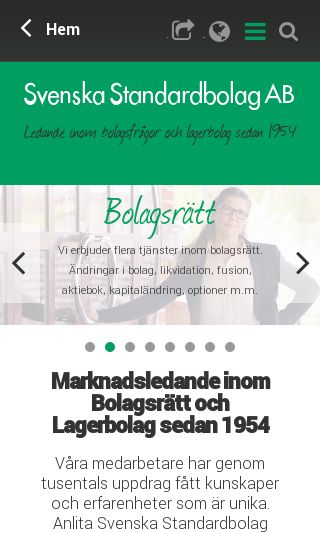 Mobile preview of standardbolag.se
